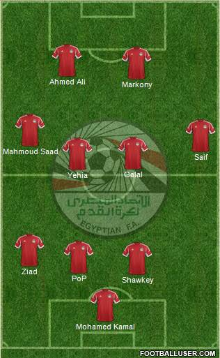 Egypt 4-4-2 football formation