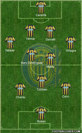 Rosario Central 4-3-2-1 football formation