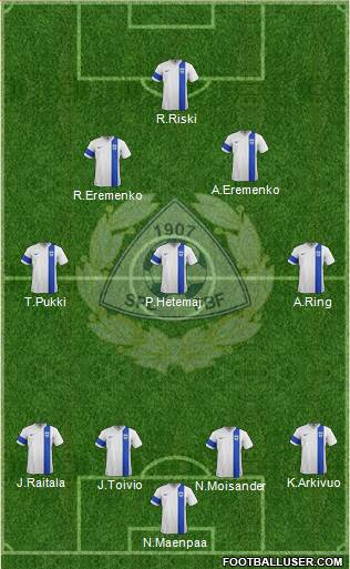 Finland 3-5-1-1 football formation
