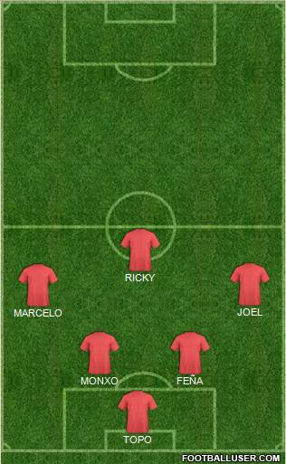 Euro 2012 Team 3-4-3 football formation
