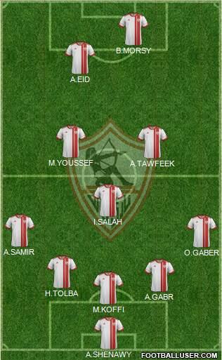 Zamalek Sporting Club (Egypt) Football Formation