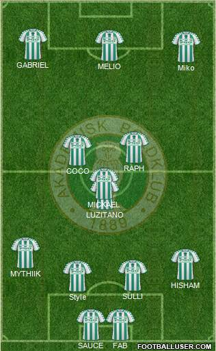 Akademisk Boldklub 4-3-1-2 football formation