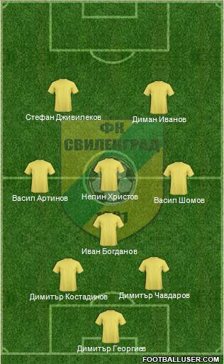 Svilengrad 1921 (Svilengrad) 4-1-3-2 football formation