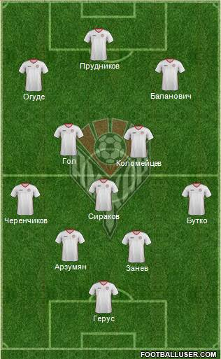 Amkar Perm 4-5-1 football formation