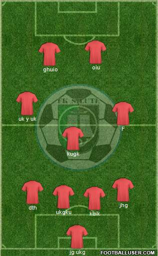 FK Silute 3-5-1-1 football formation