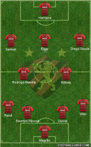 Sport C Recife 4-3-1-2 football formation