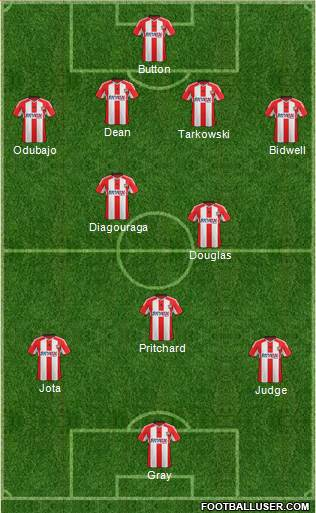 Brentford 4-2-3-1 football formation
