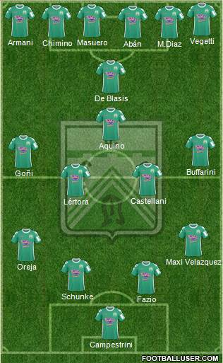 Ferro Carril Oeste 4-5-1 football formation