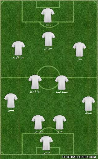 KF Ulpiana 4-2-3-1 football formation