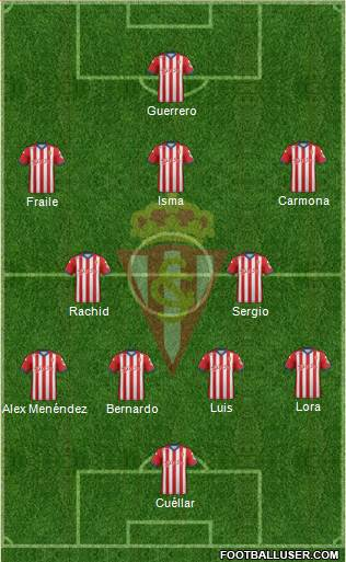 Real Sporting S.A.D. 4-3-2-1 football formation