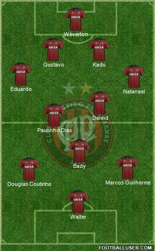 C Atlético Paranaense 4-2-3-1 football formation