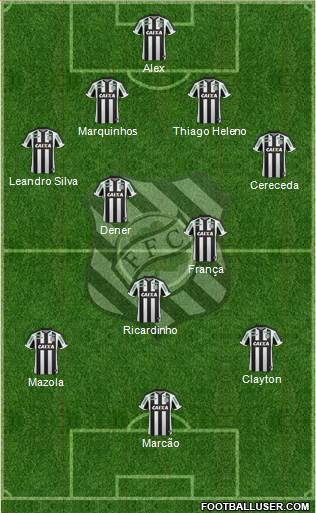 Figueirense FC 4-2-3-1 football formation