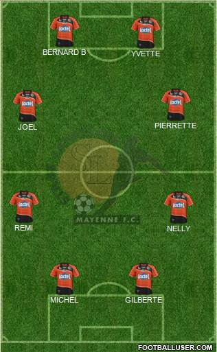 Stade Lavallois Mayenne FC 5-4-1 football formation