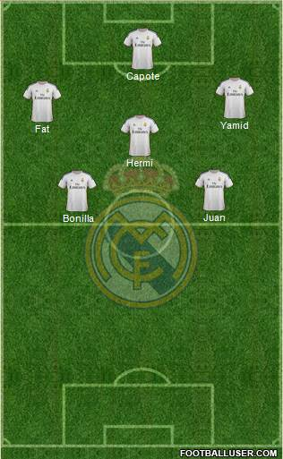 R. Madrid Castilla 4-3-2-1 football formation