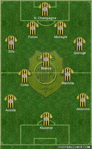 Olimpo de Bahía Blanca 4-3-3 football formation
