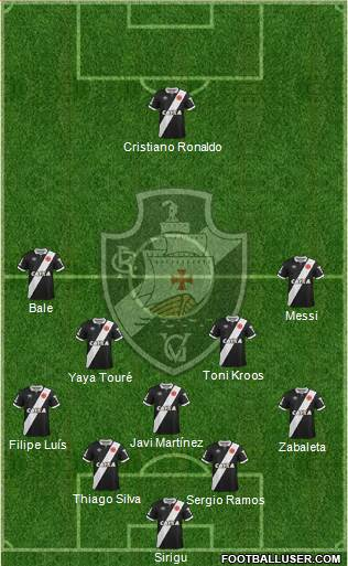 CR Vasco da Gama 5-4-1 football formation