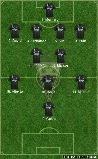 Albacete B., S.A.D. 4-2-4 football formation