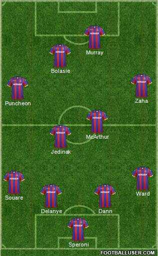 Crystal Palace 4-1-3-2 football formation