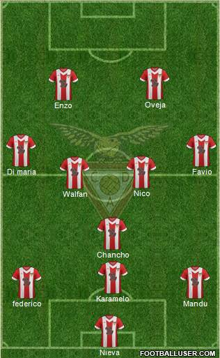 Clube Desportivo das Aves 4-4-2 football formation