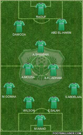 Masry Port Said 4-3-3 football formation