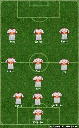 New York Red Bulls 4-3-3 football formation