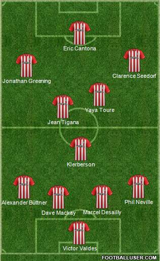 Southampton 4-5-1 football formation