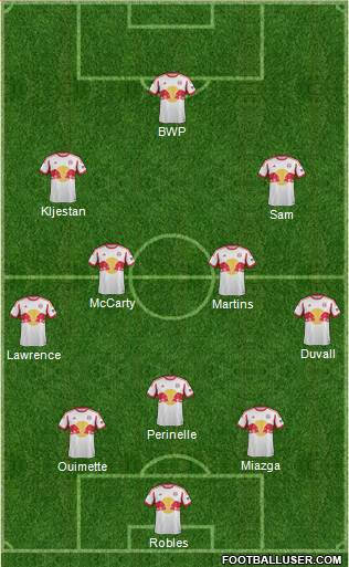 New York Red Bulls 3-4-2-1 football formation