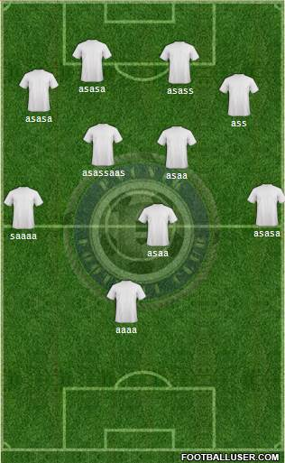 Pyunik Yerevan 5-4-1 football formation