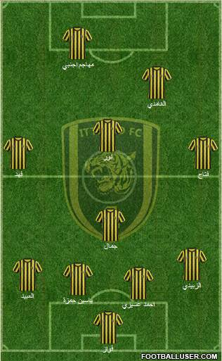 Al-Ittihad (KSA) 4-1-3-2 football formation
