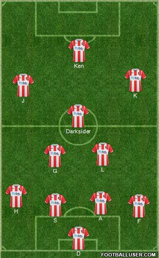 Exeter City 4-2-3-1 football formation
