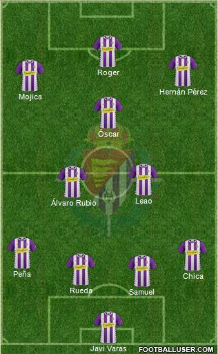 R. Valladolid C.F., S.A.D. 4-3-1-2 football formation