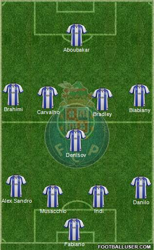 Futebol Clube do Porto - SAD 4-1-4-1 football formation