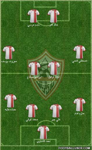 Zamalek Sporting Club 4-1-2-3 football formation