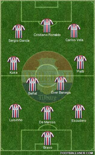 Willem II 3-4-3 football formation