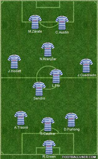 Queens Park Rangers 3-5-2 football formation