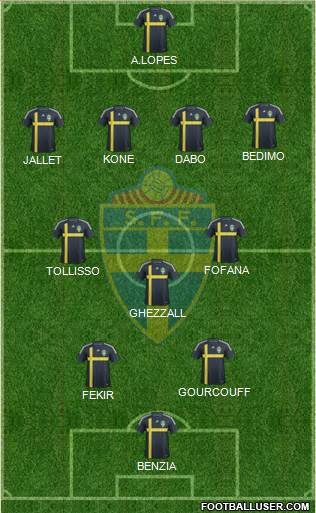 Sweden 4-3-2-1 football formation