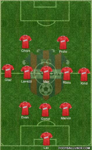 FC ViOn Zlate Moravce 3-5-2 football formation