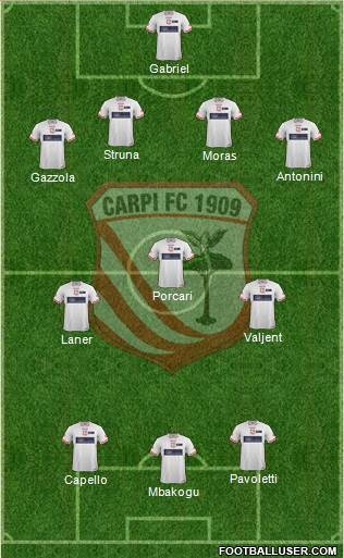 Carpi 4-3-3 football formation