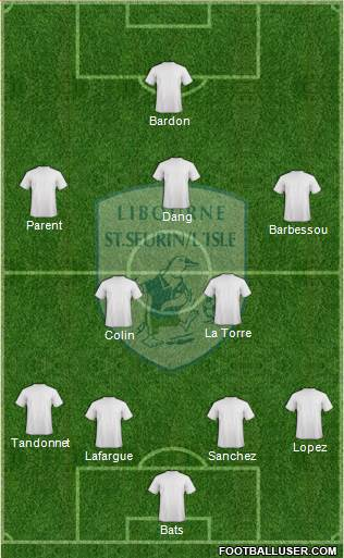 Football Club Libourne Saint Seurin 4-2-3-1 football formation