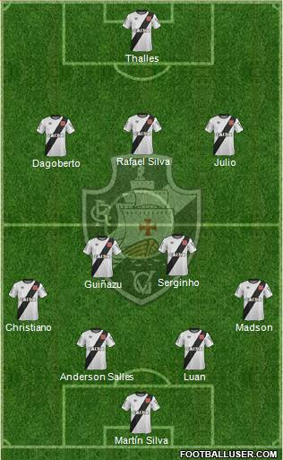 CR Vasco da Gama 4-2-3-1 football formation