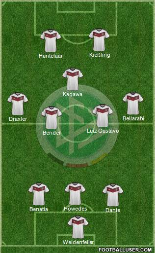 Germany 4-4-1-1 football formation