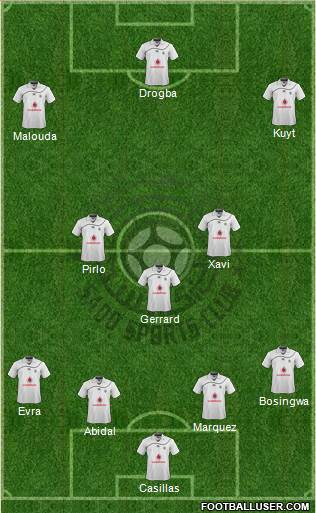 Al-Sadd Sports Club 4-3-3 football formation