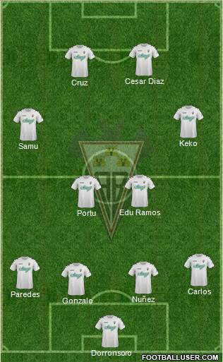 Albacete B., S.A.D. 4-4-2 football formation