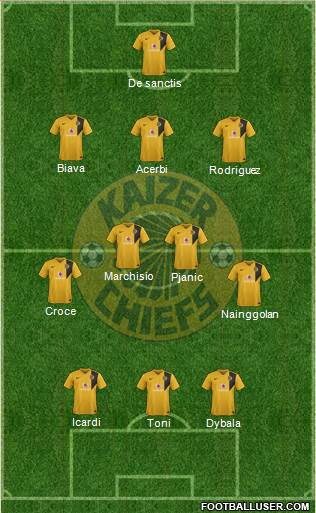Kaizer Chiefs 3-4-3 football formation