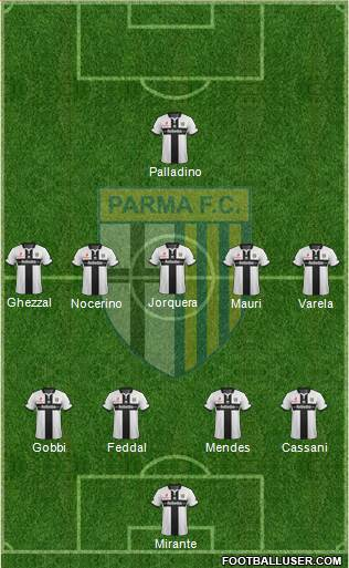 Parma 4-5-1 football formation