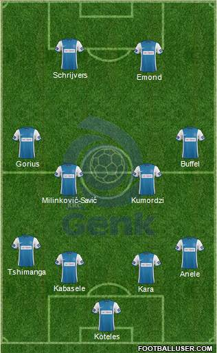 K Racing Club Genk 4-4-2 football formation
