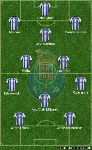 Futebol Clube do Porto - SAD 3-5-2 football formation