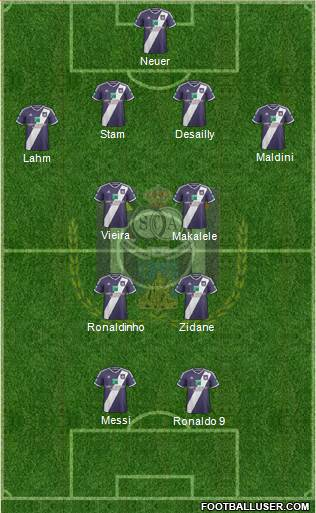 RSC Anderlecht 4-2-2-2 football formation