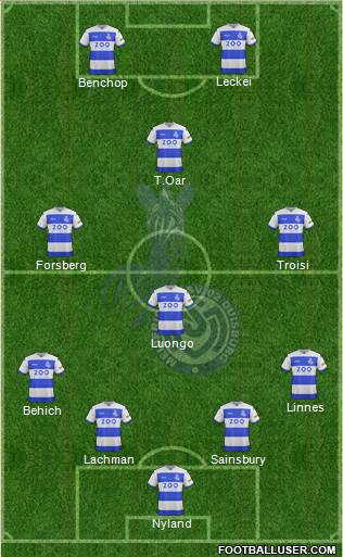 MSV Duisburg 4-1-2-3 football formation