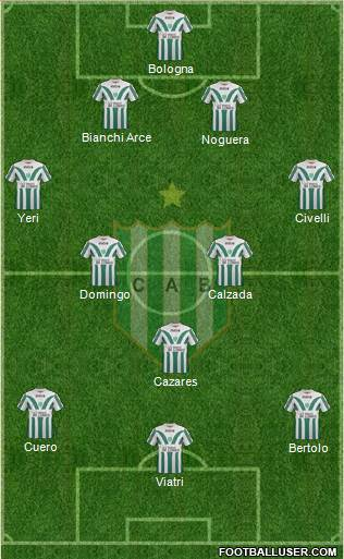 Banfield 4-2-3-1 football formation
